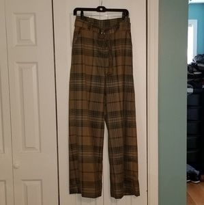 7th Avenue Plaid Pants with ring belt